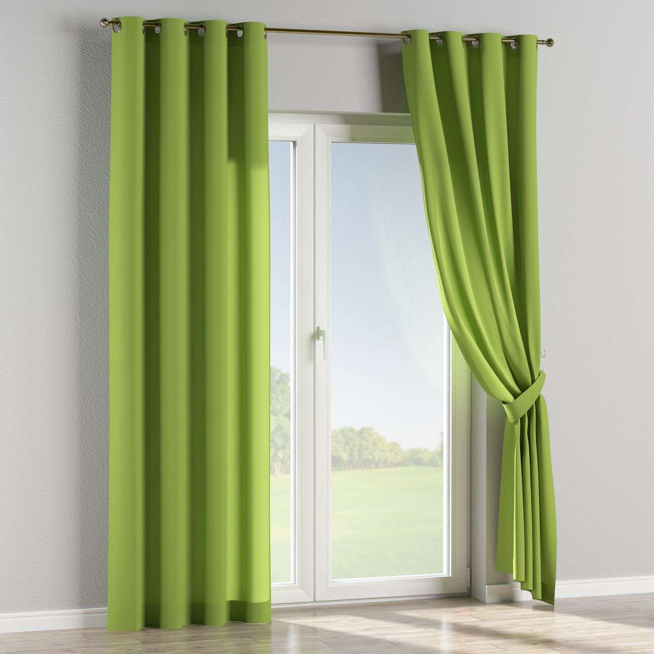 Eyelet curtains in collection Quadro, fabric: 136-37