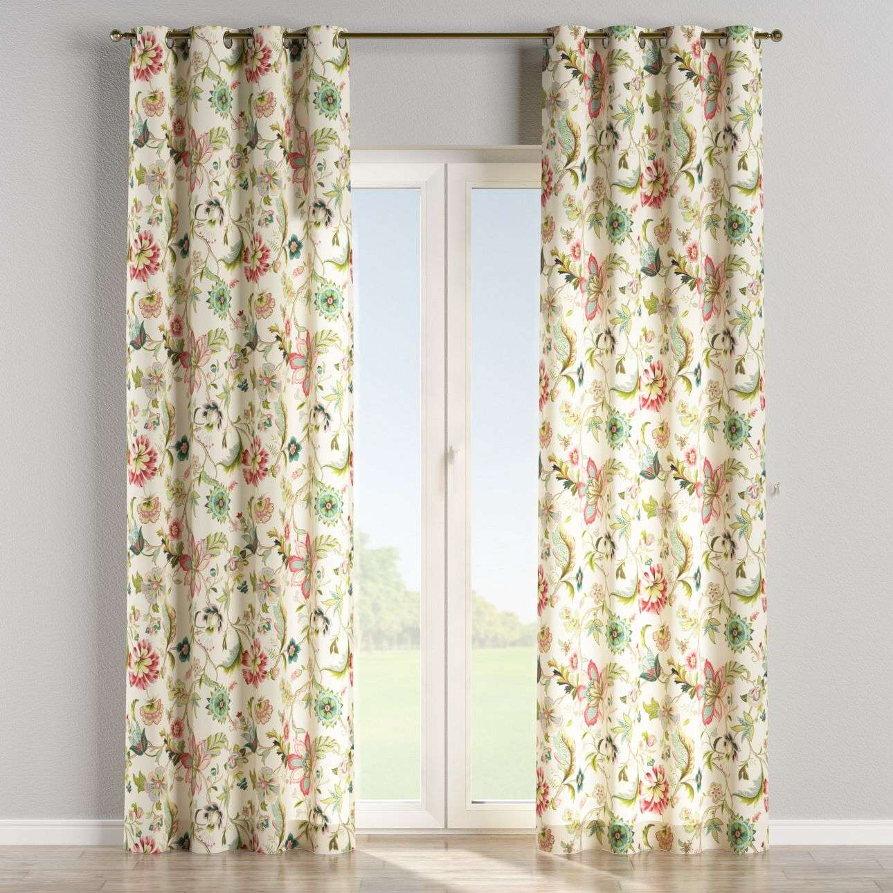 Eyelet curtains 130 × 260 cm (51 × 102 inch) in collection Londres, fabric: 122-00