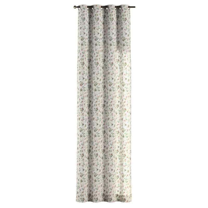 Gardin med öljetter 1 längd i kollektionen Londres, Tyg: 122-02