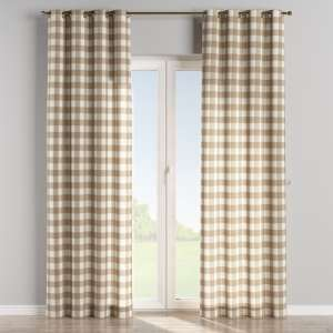 Eyelet curtains 130 x 260 cm (51 x 102 inch) in collection Quadro, fabric: 136-08