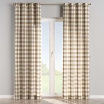 Eyelet curtains in collection Quadro, fabric: 136-08