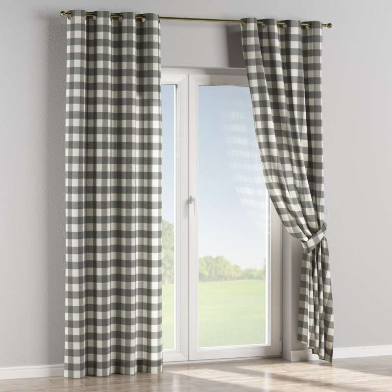 Eyelet curtain in collection Quadro, fabric: 136-13