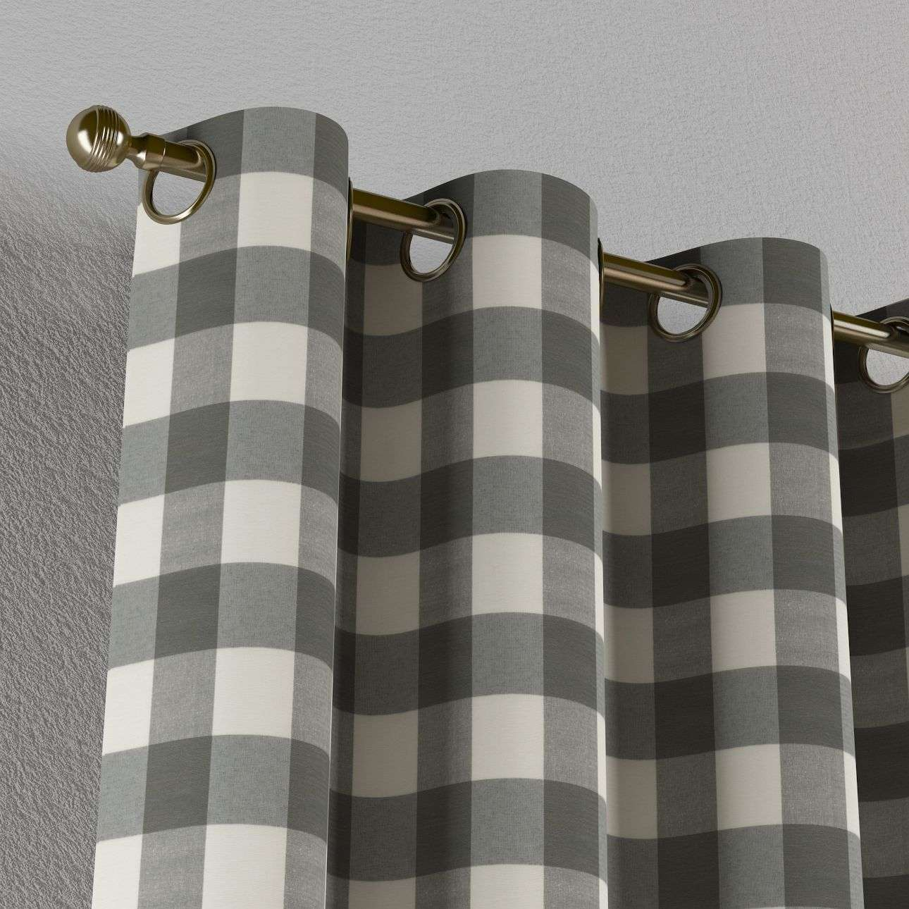 Eyelet curtains 130 x 260 cm (51 x 102 inch) in collection Quadro, fabric: 136-13