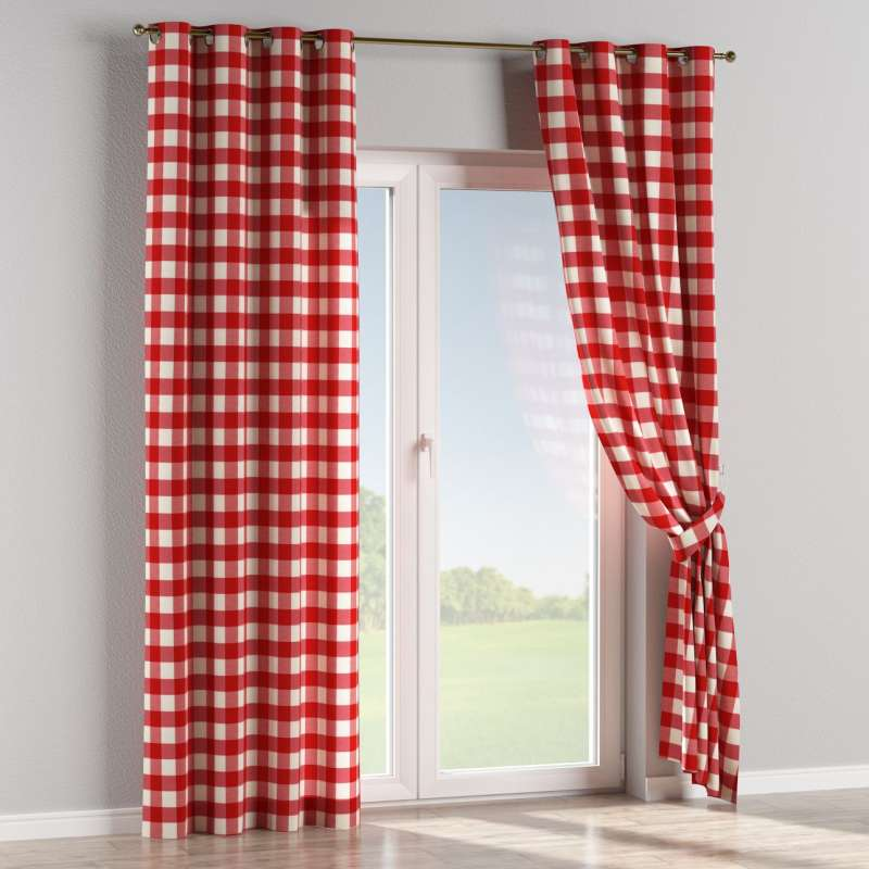 Eyelet curtain in collection Quadro, fabric: 136-18
