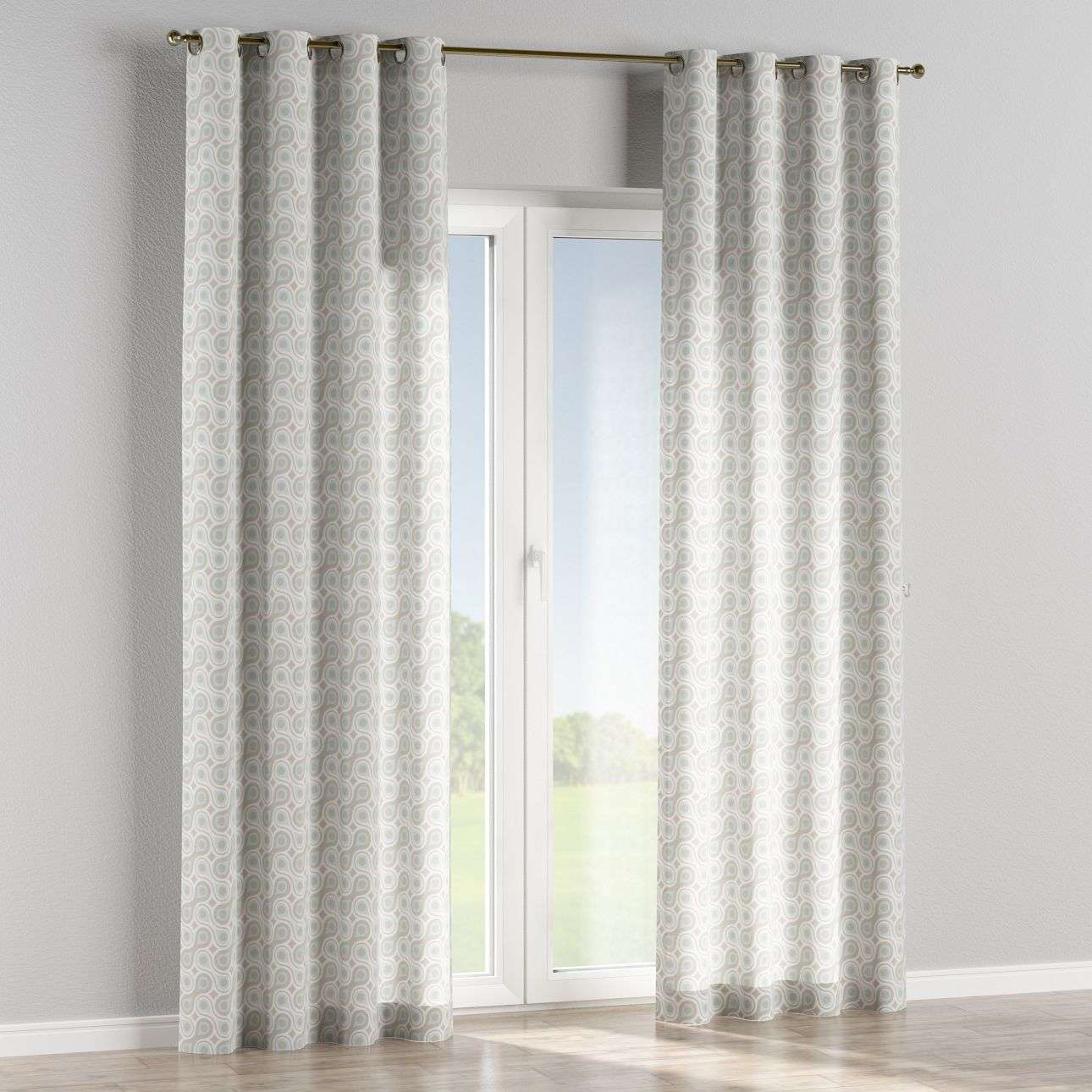 Eyelet curtains 130 x 260 cm (51 x 102 inch) in collection Flowers, fabric: 311-13