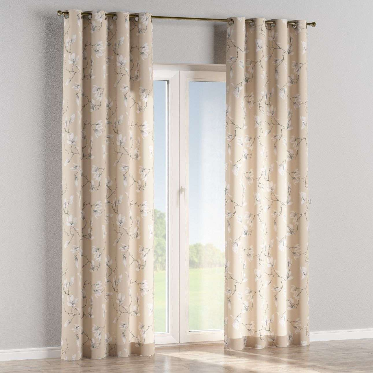 Eyelet curtains in collection Flowers, fabric: 311-12