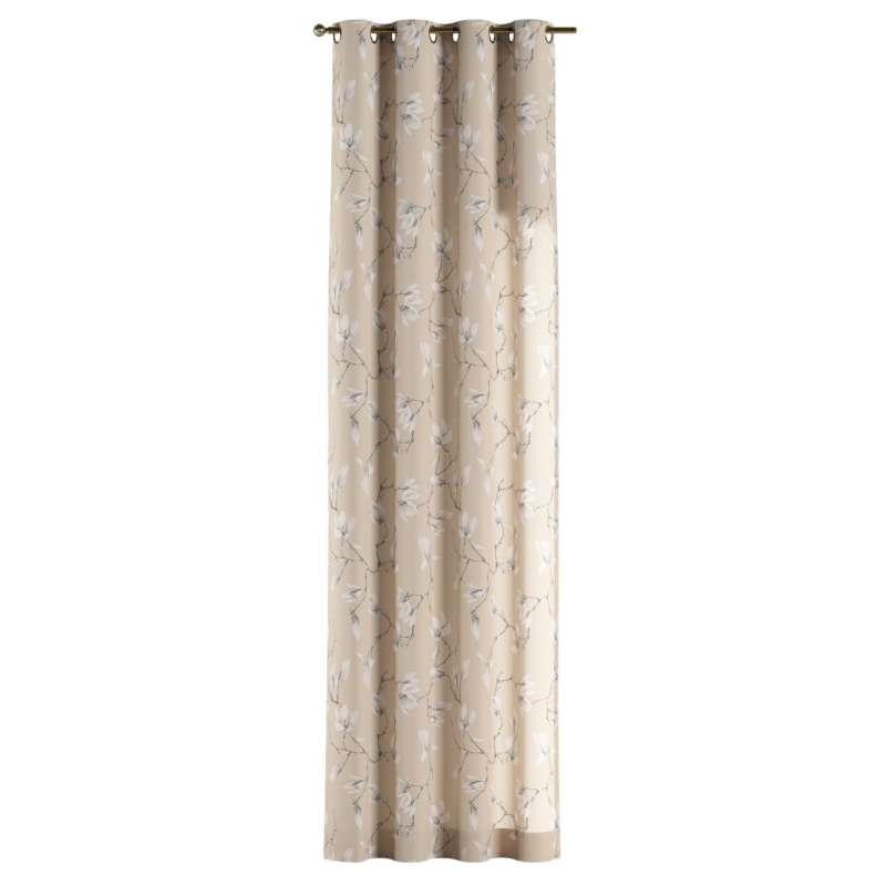 Gardin med öljetter 1 längd i kollektionen Flowers, Tyg: 311-12