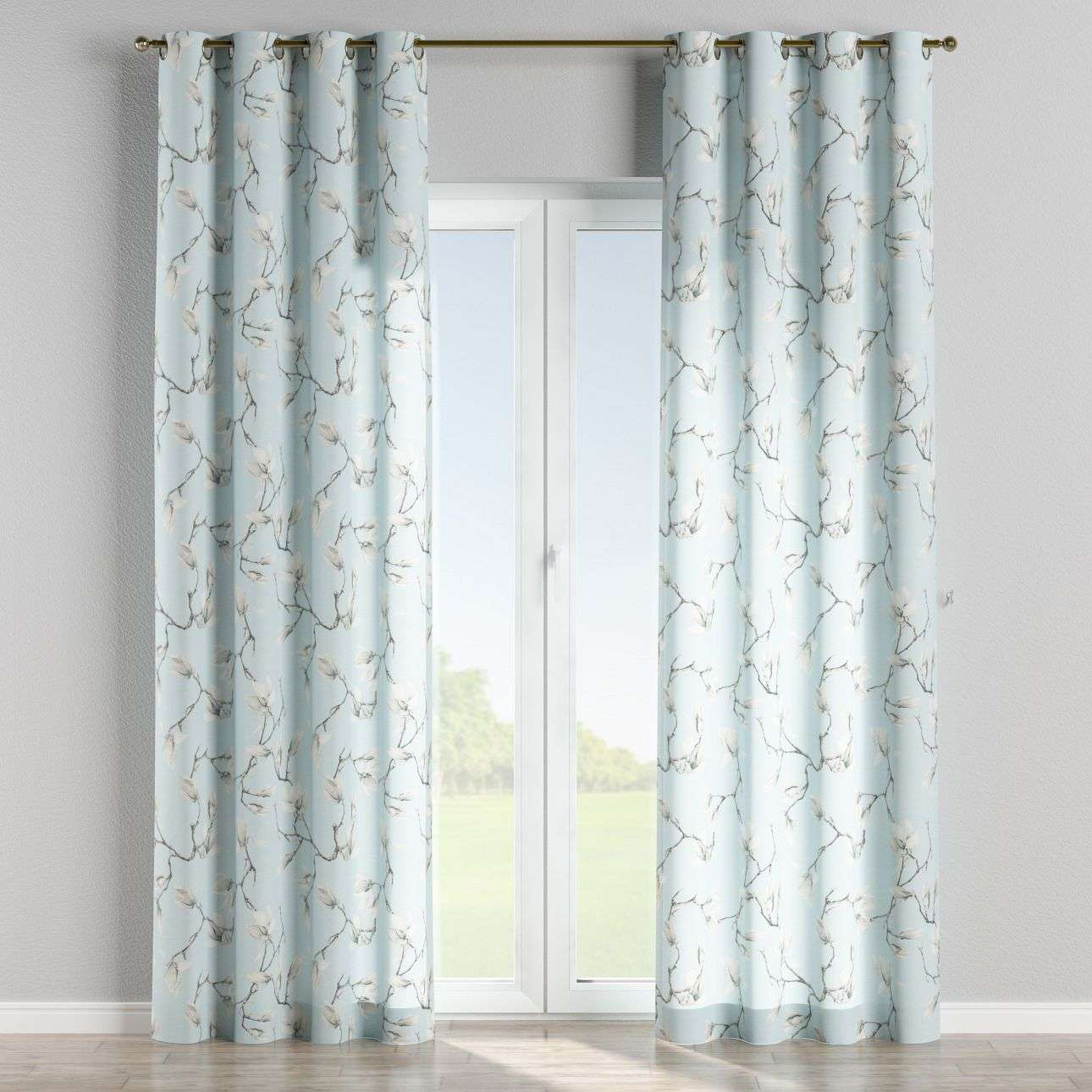 Eyelet curtains 130 × 260 cm (51 × 102 inch) in collection Flowers, fabric: 311-14