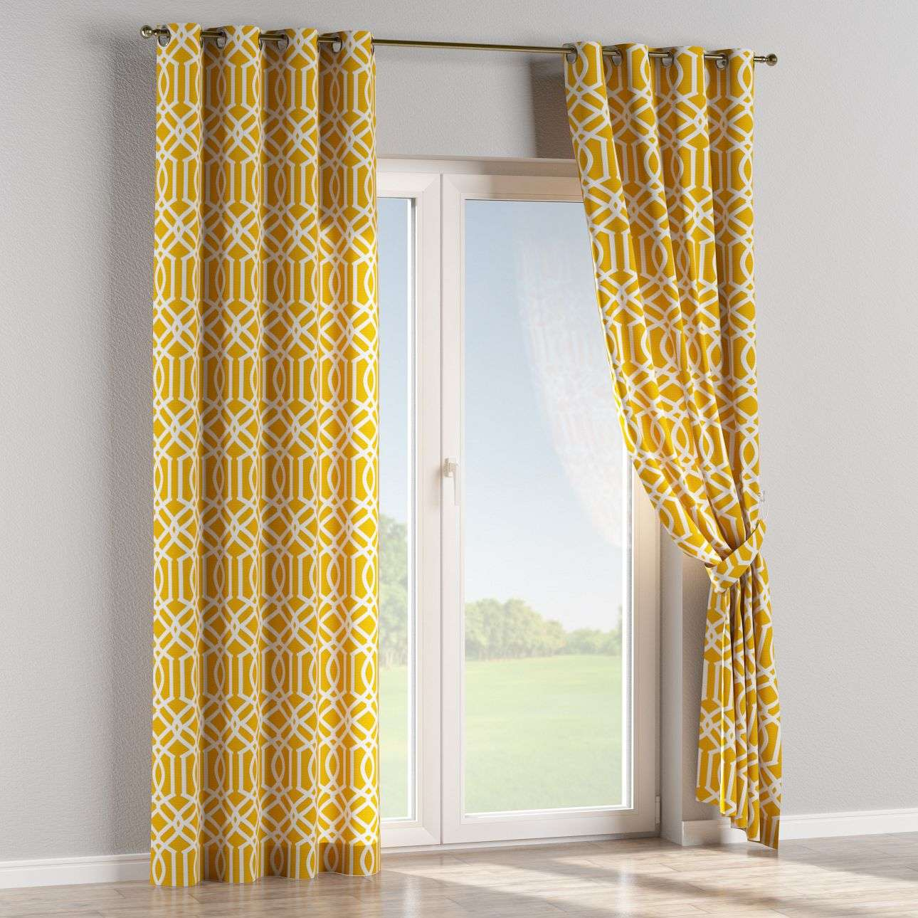 Eyelet curtains 130 x 260 cm (51 x 102 inch) in collection Comic Book & Geo Prints, fabric: 135-09