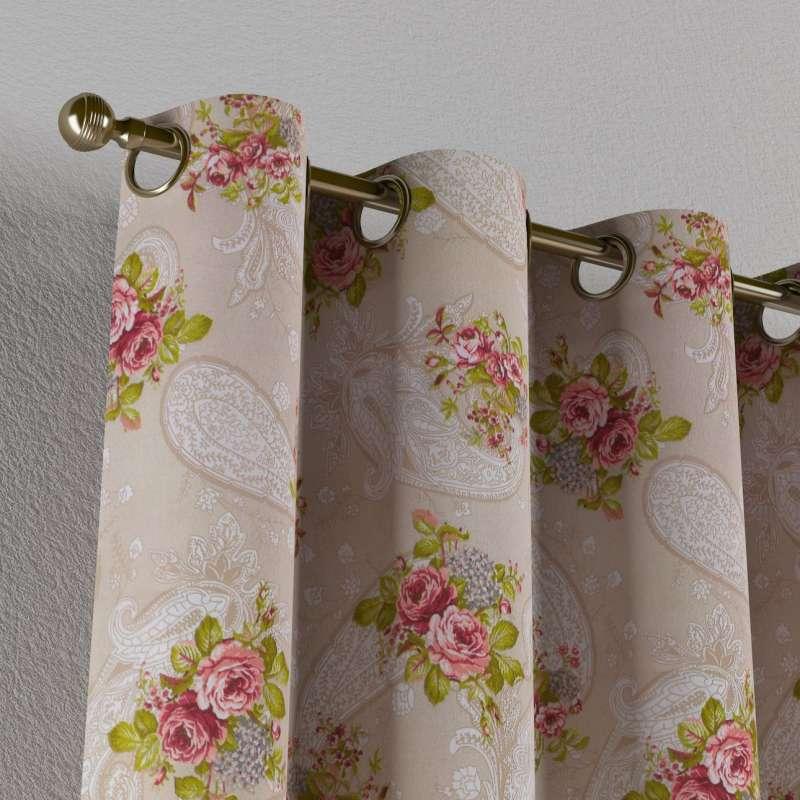 Záves s kolieskami V kolekcii Flowers, tkanina: 311-15