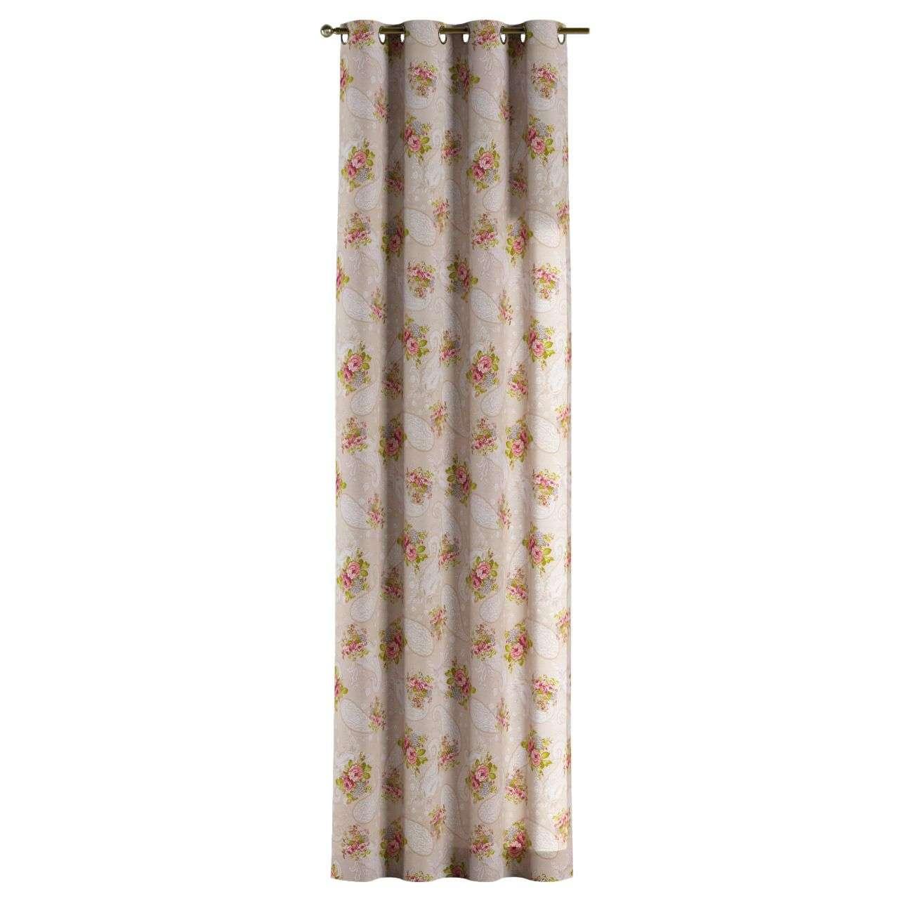 Žiedinio klostavimo užuolaidos 130 x 260 cm (plotis x ilgis) kolekcijoje Flowers, audinys: 311-15