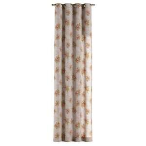 Závěs na kroužcích 130 x 260 cm v kolekci Flowers, látka: 311-15