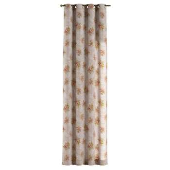 Gardin med öljetter 1 längd 130 x 260 cm i kollektionen Flowers, Tyg: 311-15