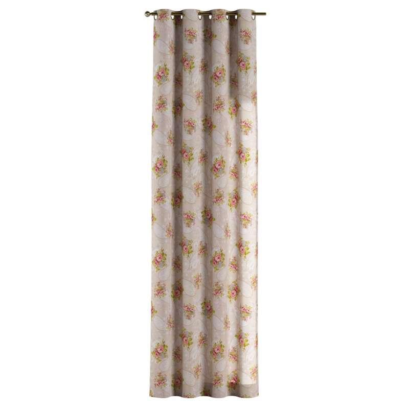 Zasłona na kółkach 1 szt. w kolekcji Flowers, tkanina: 311-15