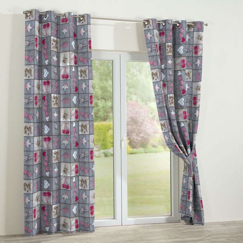 Eyelet curtains 130 x 260 cm (51 x 102 inch) in collection Christmas , fabric: 629-20