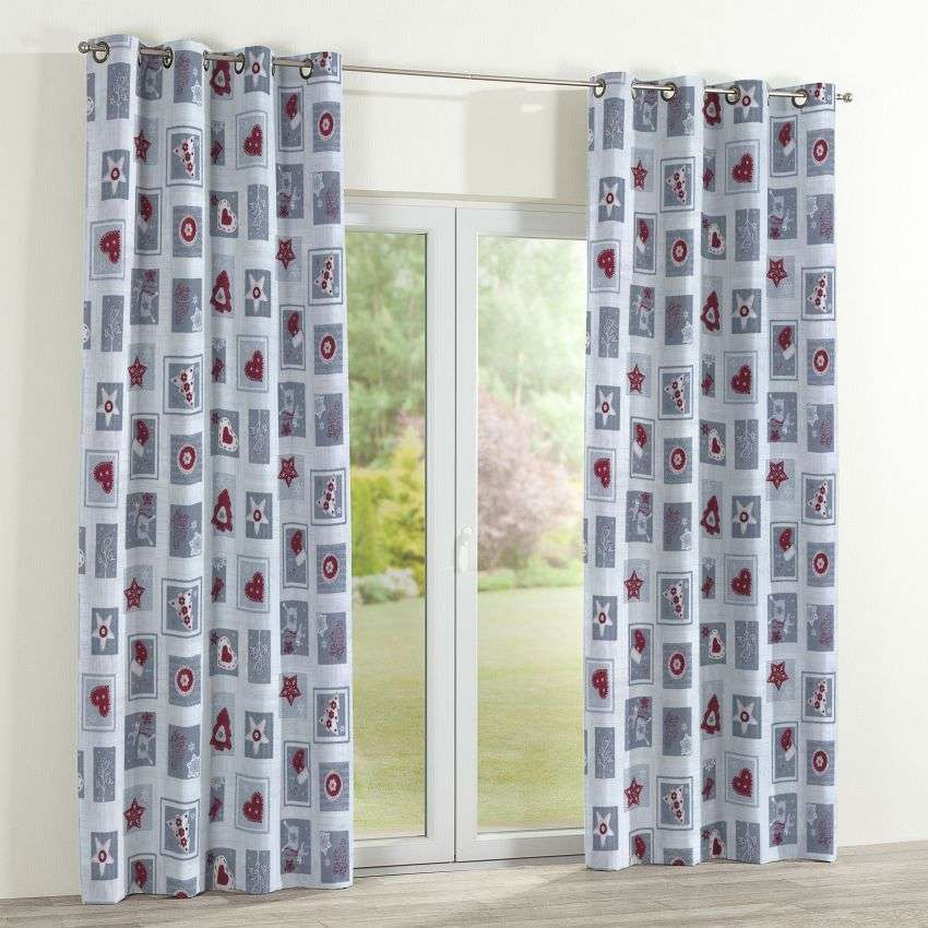 Eyelet curtains 130 x 260 cm (51 x 102 inch) in collection Christmas , fabric: 629-23