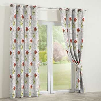Eyelet curtains 130 x 260 cm (51 x 102 inch) in collection Christmas, fabric: 629-24