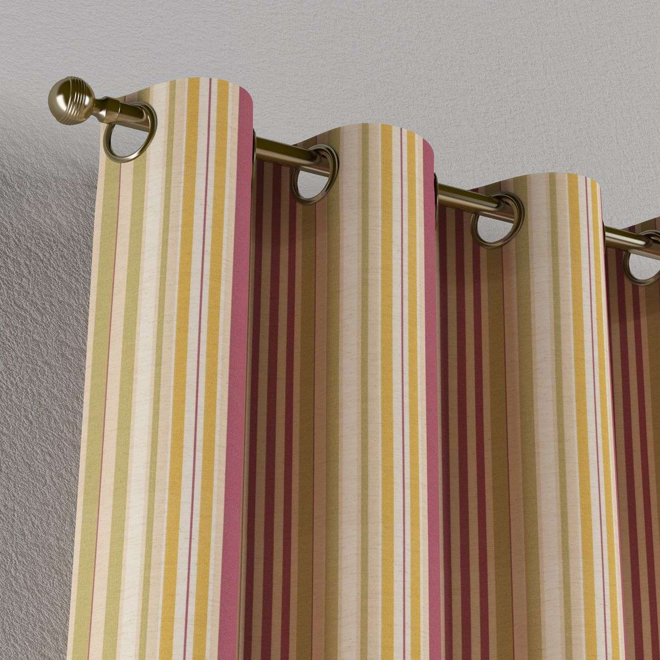 Eyelet curtains in collection Londres, fabric: 122-09