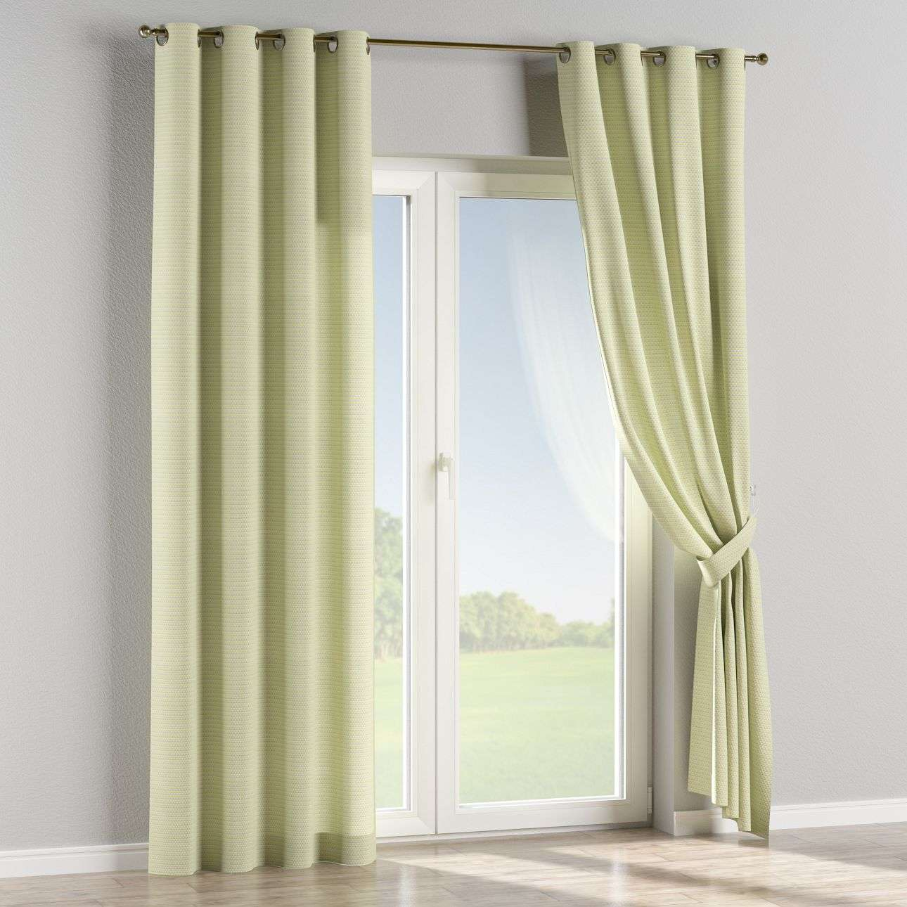 Eyelet curtains 130 x 260 cm (51 x 102 inch) in collection Rustica, fabric: 140-34