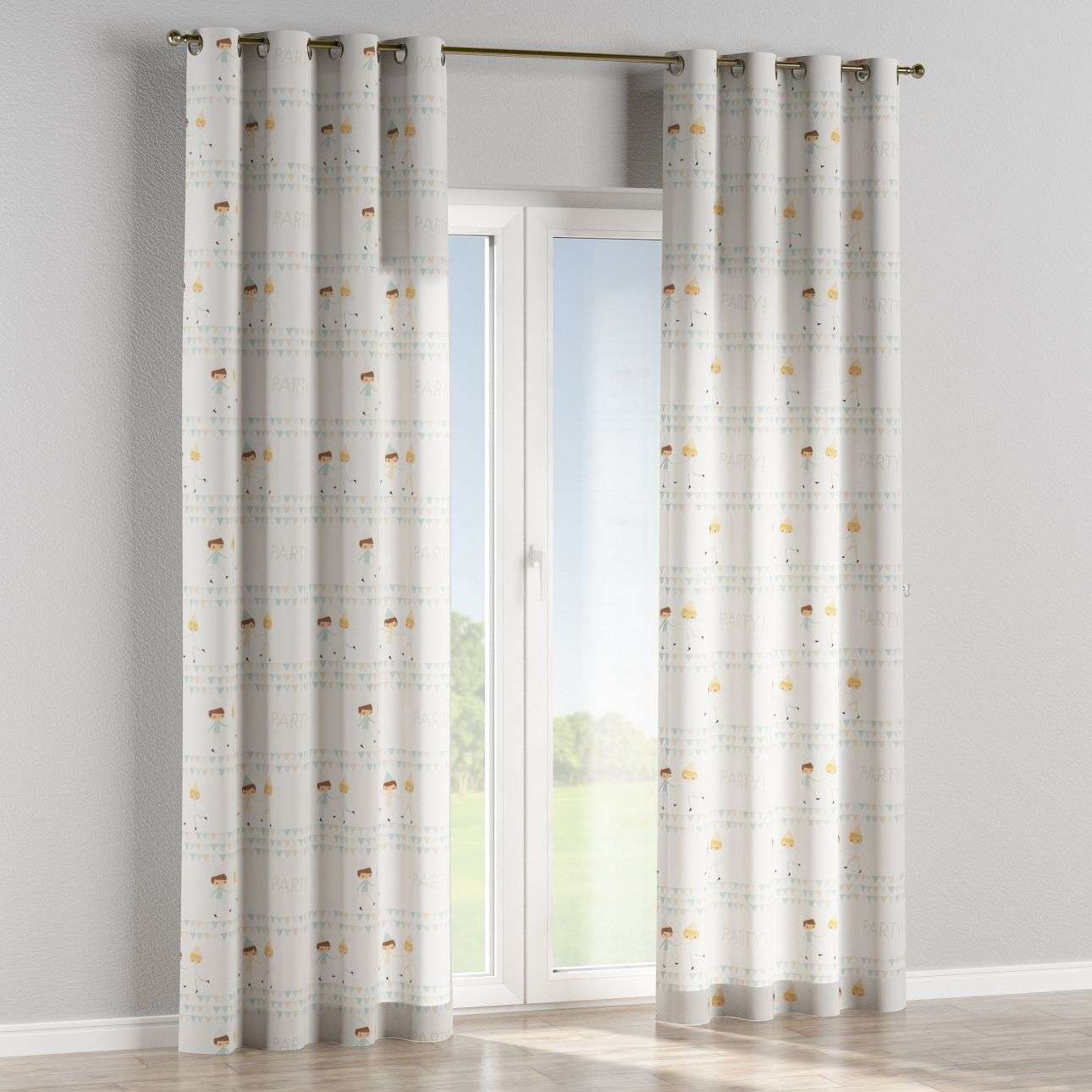Eyelet curtains 130 × 260 cm (51 × 102 inch) in collection Apanona, fabric: 151-01
