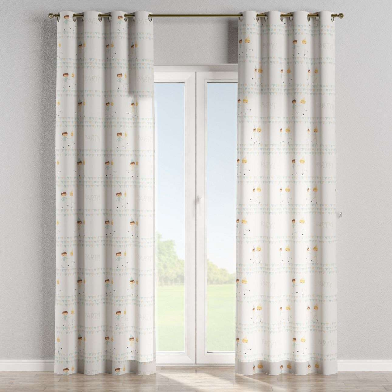 Eyelet curtains 130 x 260 cm (51 x 102 inch) in collection Apanona, fabric: 151-01