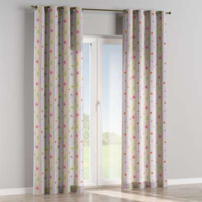 Eyelet curtain 151-05 animal print on multicolour background Collection Little World