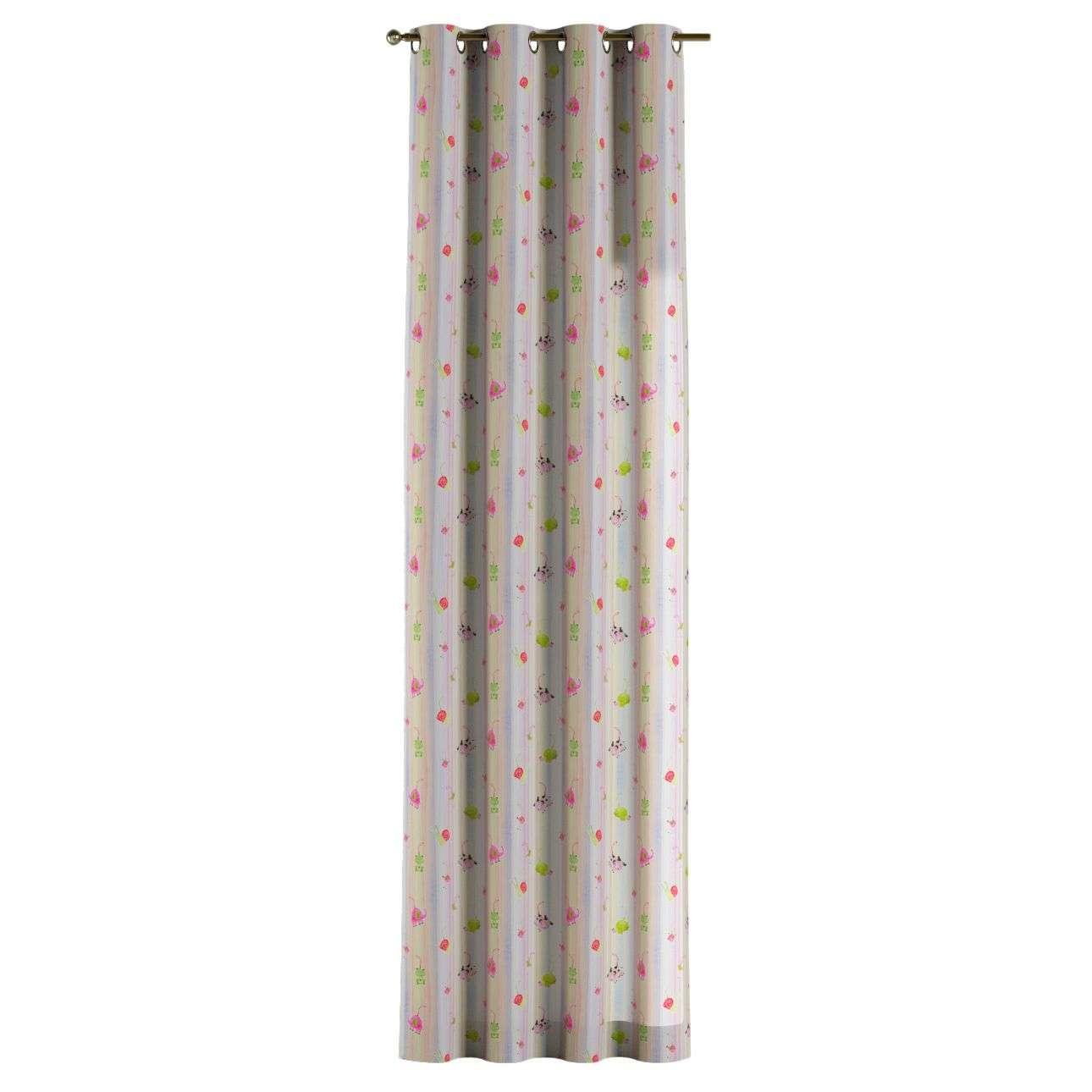 Gardin med öljetter 1 längd 130 x 260 cm i kollektionen Apanona , Tyg: 151-05