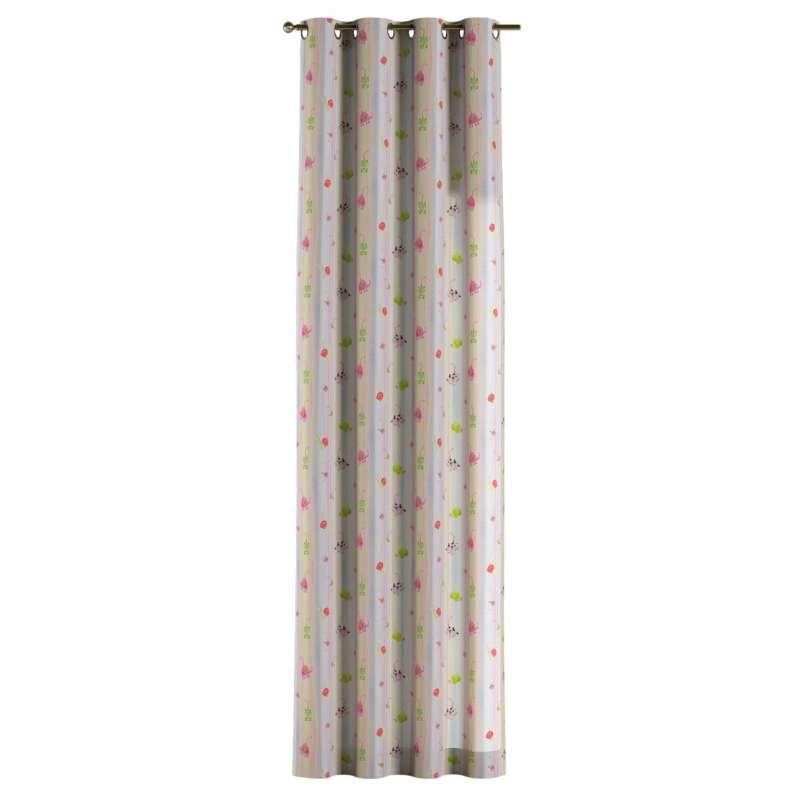 Gardin med öljetter 1 längd i kollektionen Little World, Tyg: 151-05