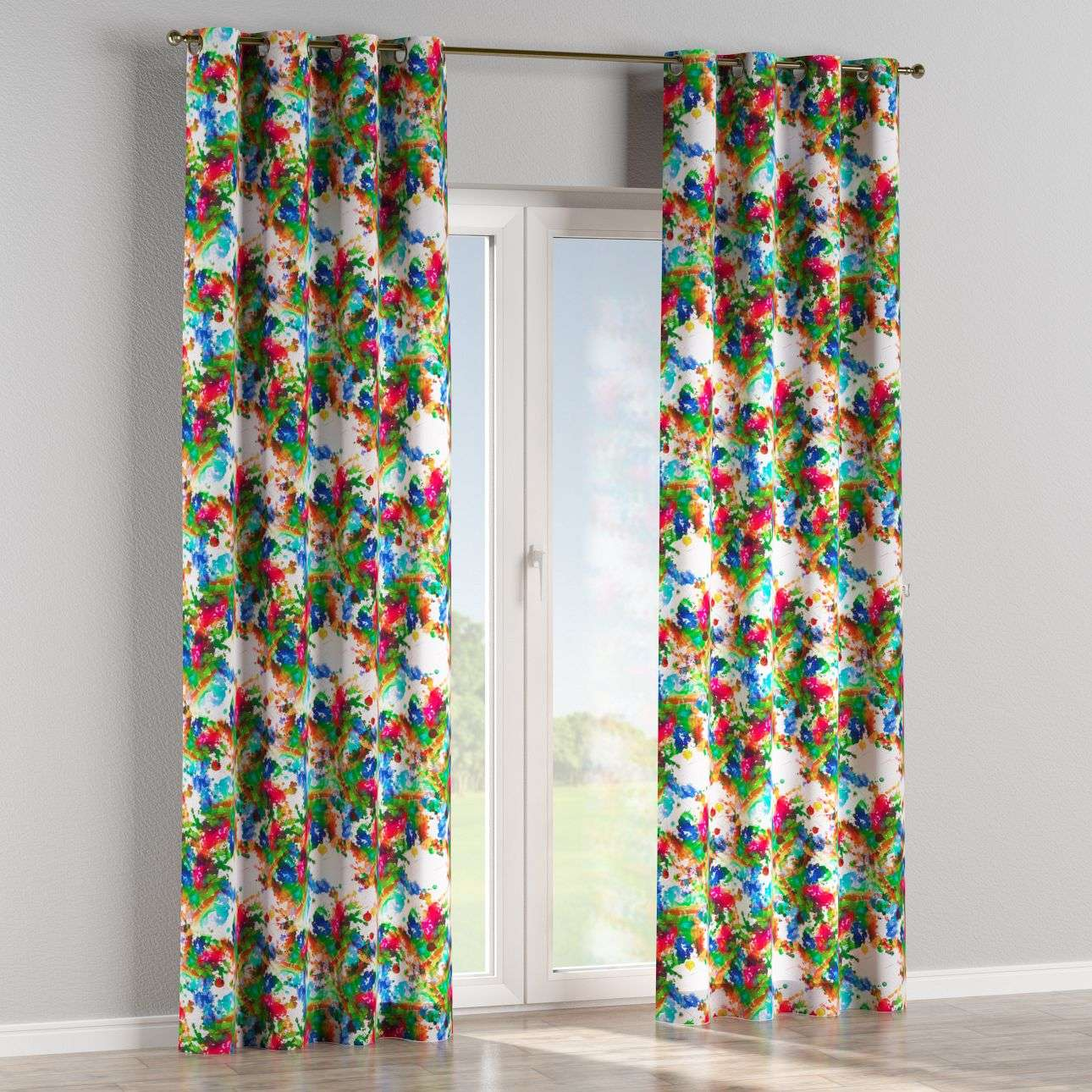 Eyelet curtains in collection New Art, fabric: 140-23