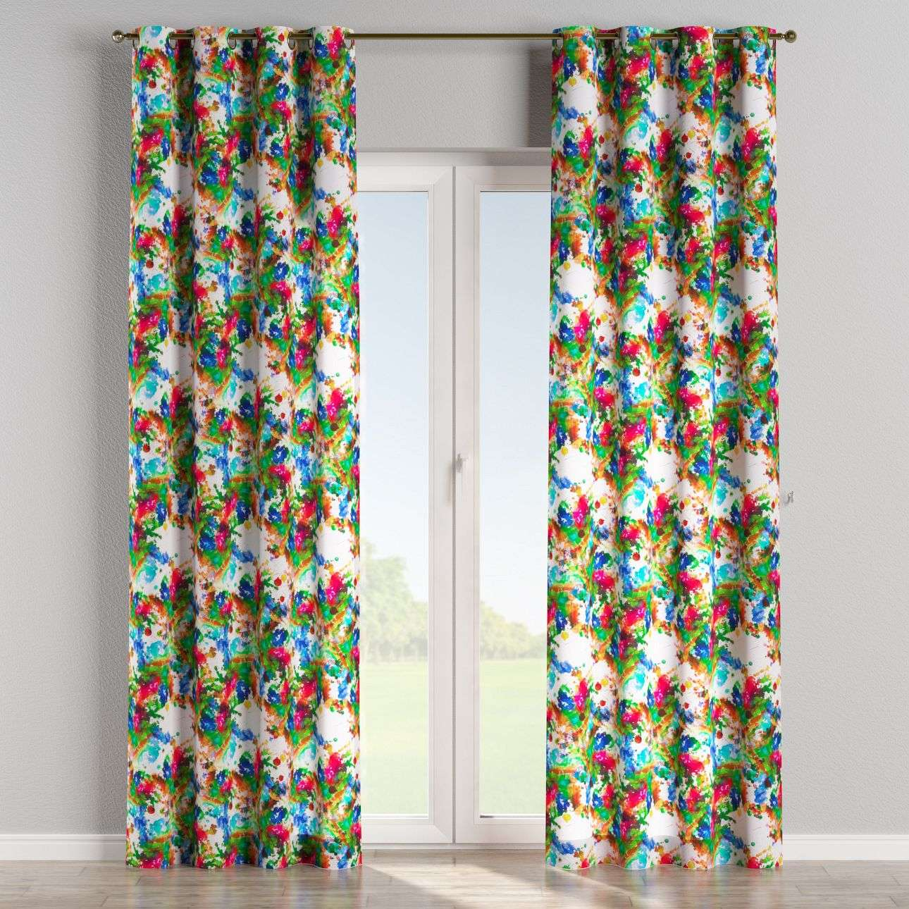 Eyelet curtains 130 x 260 cm (51 x 102 inch) in collection New Art, fabric: 140-23
