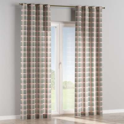 Eyelet curtain 137-75 pink and black houndstooth Collection SALE