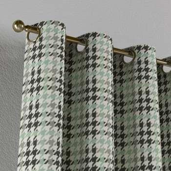 Gardin med öljetter 1 längd 130 x 260 cm i kollektionen Brooklyn , Tyg: 137-77