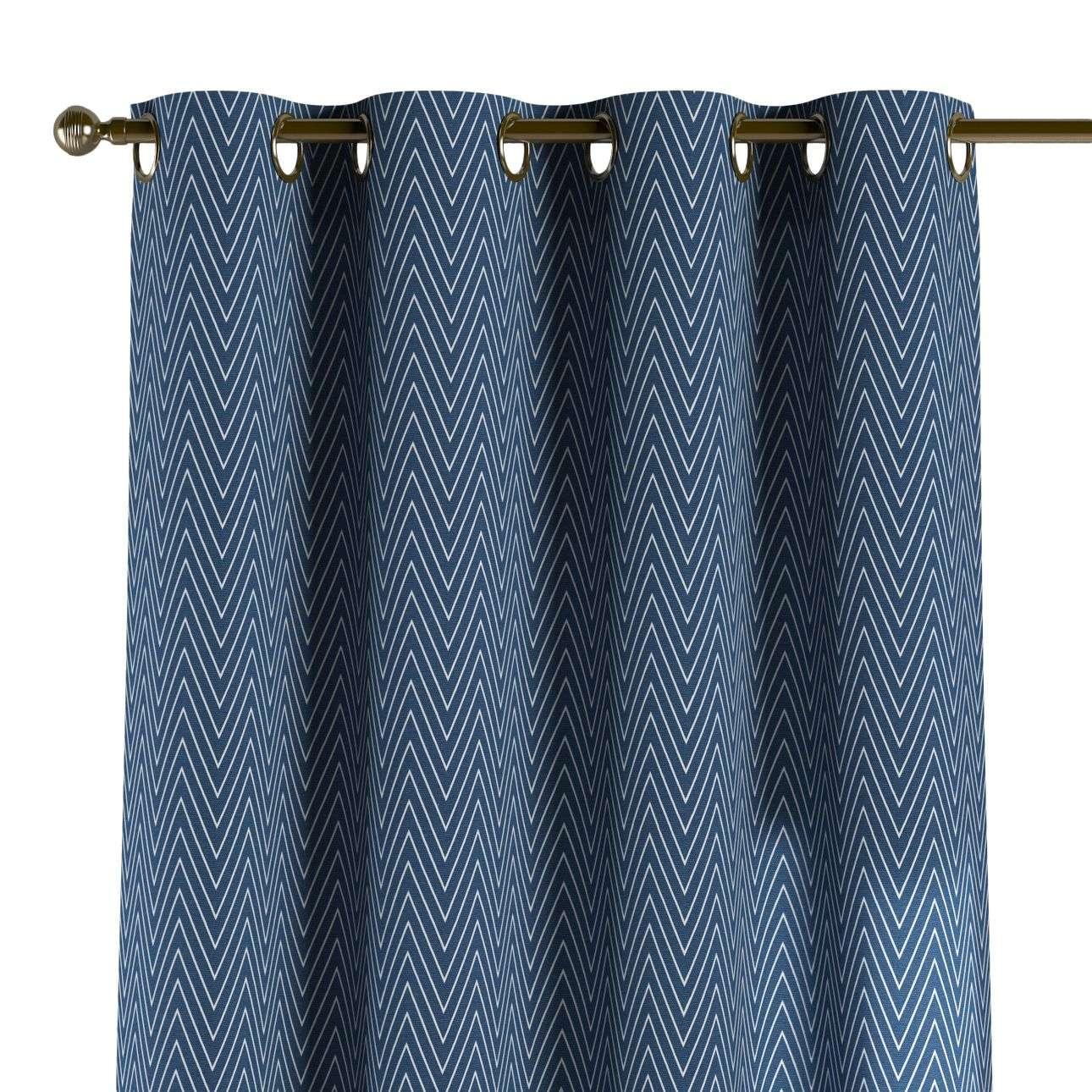 Žiedinio klostavimo užuolaidos 130 x 260 cm (plotis x ilgis) kolekcijoje Brooklyn, audinys: 137-88