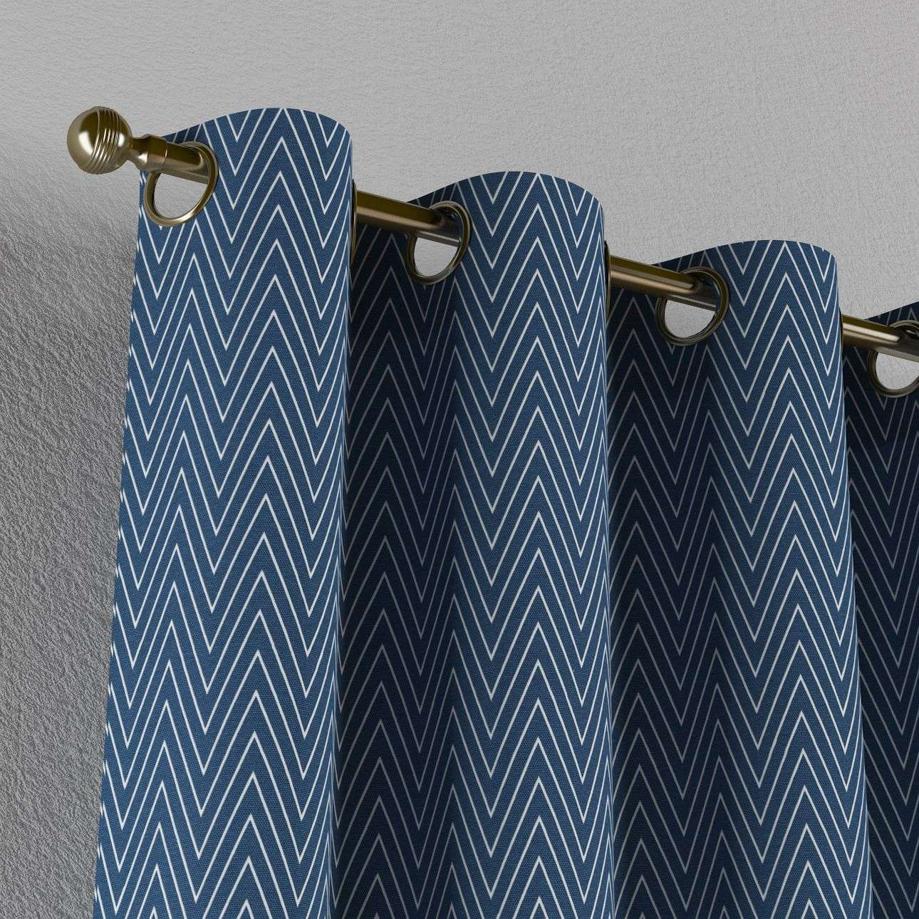 Gardin med öljetter 1 längd 130 x 260 cm i kollektionen Brooklyn , Tyg: 137-88