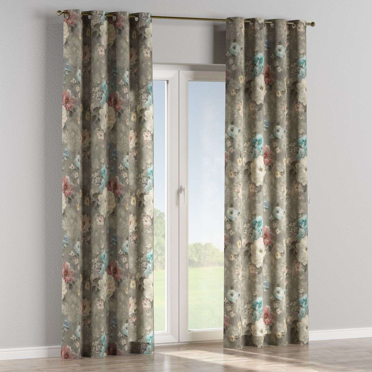 Eyelet curtains 130 x 260 cm (51 x 102 inch) in collection Monet, fabric: 137-81