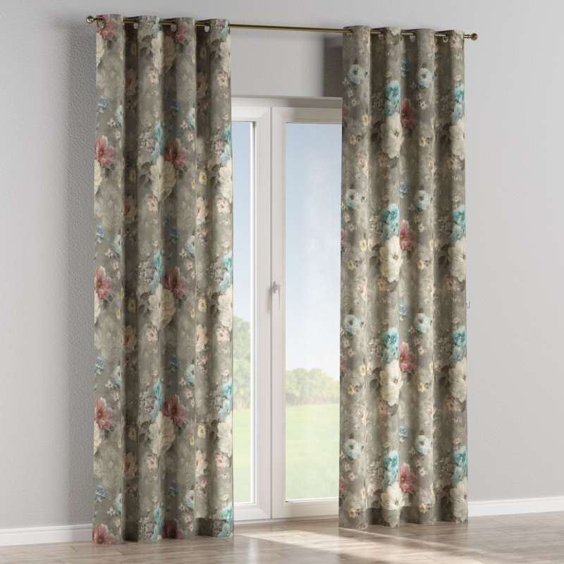 Eyelet curtain in collection Flowers, fabric: 137-81
