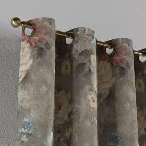 Gardin med öljetter 1 längd 130 x 260 cm i kollektionen Monet , Tyg: 137-81