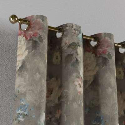 Gordijn met ringen van de collectie Flowers, Stof: 137-81