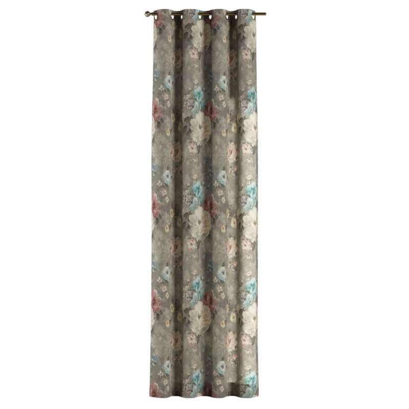Gardin med öljetter 1 längd i kollektionen Flowers, Tyg: 137-81