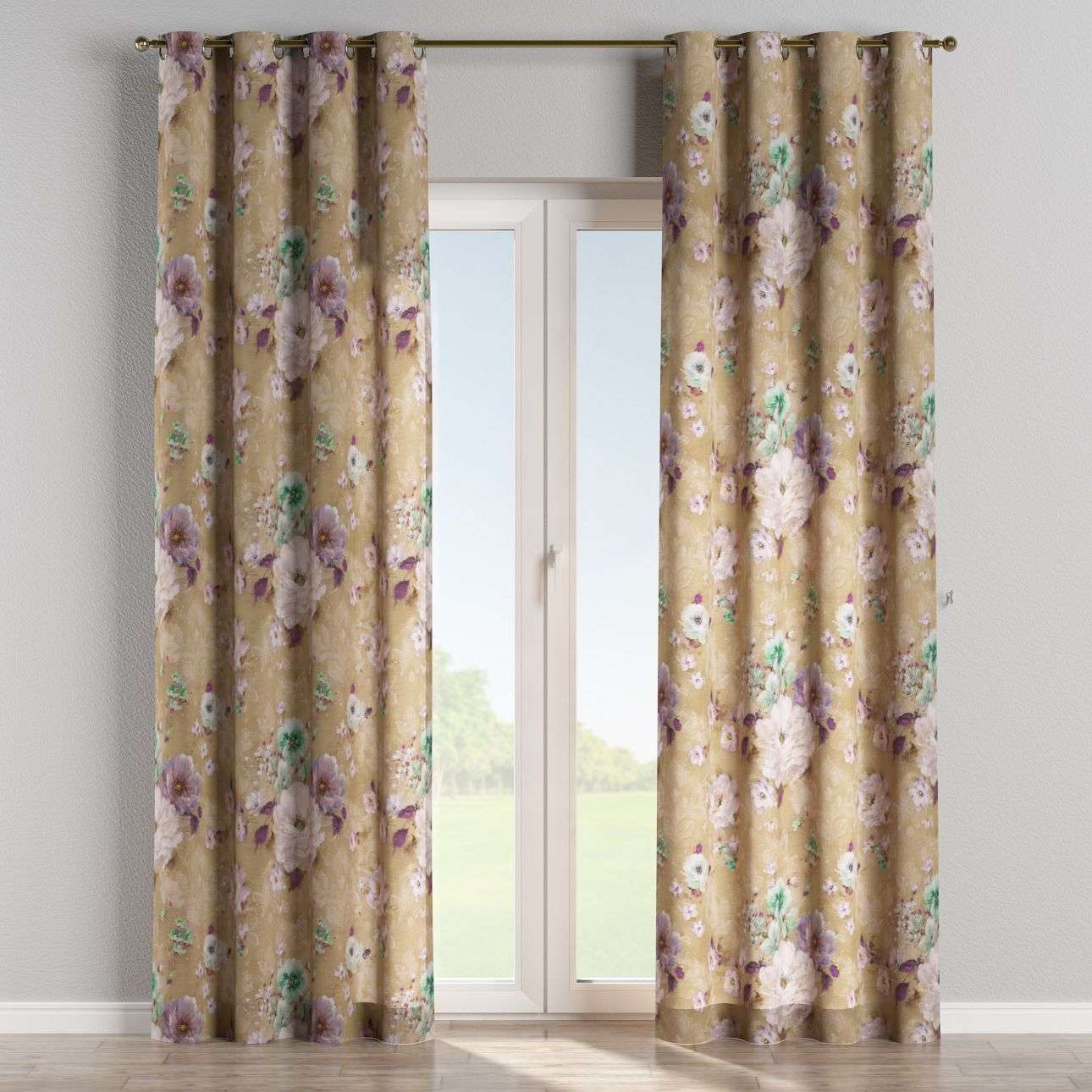 Eyelet curtains 130 x 260 cm (51 x 102 inch) in collection Monet, fabric: 137-82