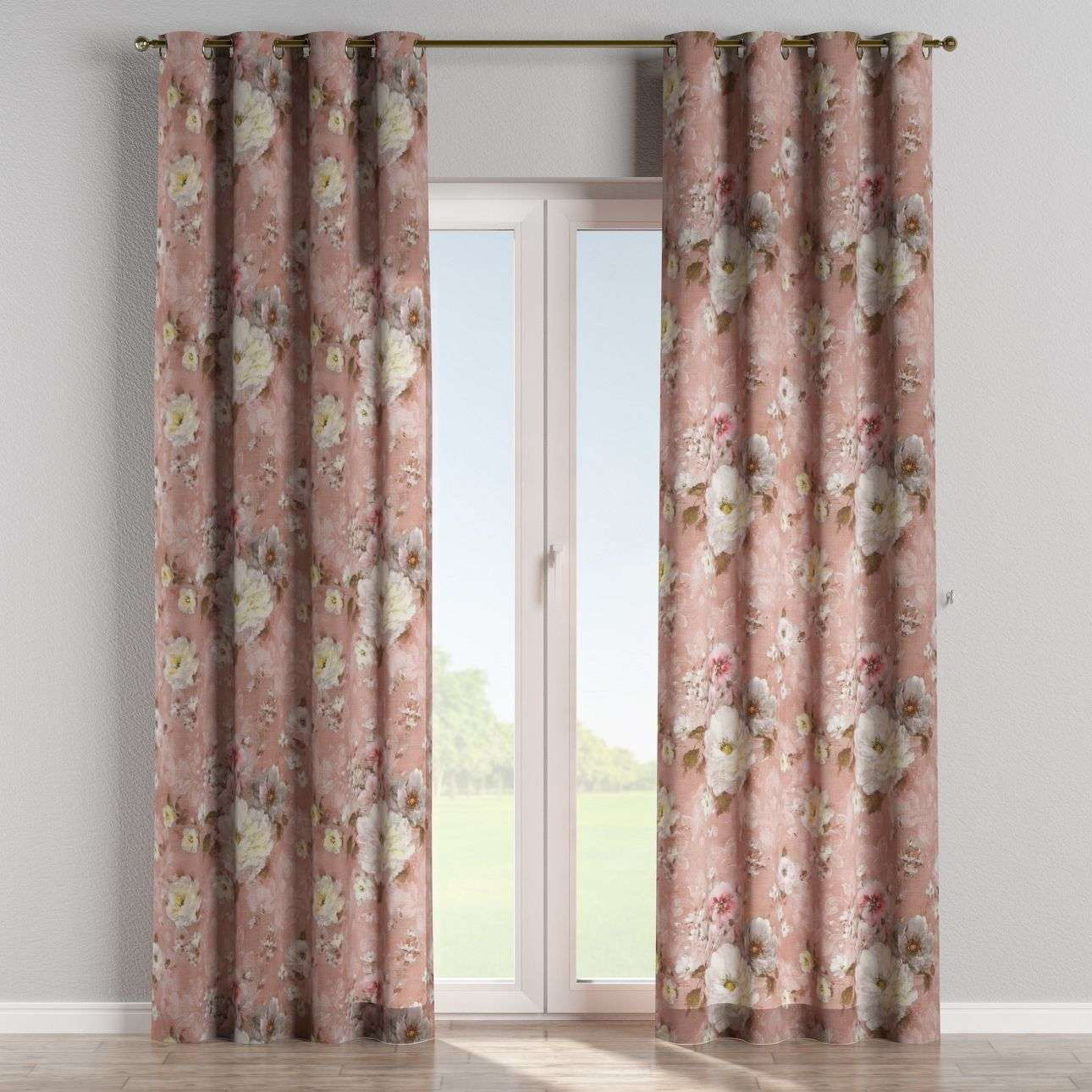 Eyelet curtains 130 x 260 cm (51 x 102 inch) in collection Monet, fabric: 137-83