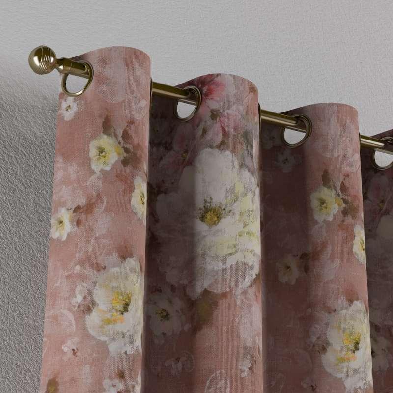 Gordijn met ringen van de collectie Flowers, Stof: 137-83