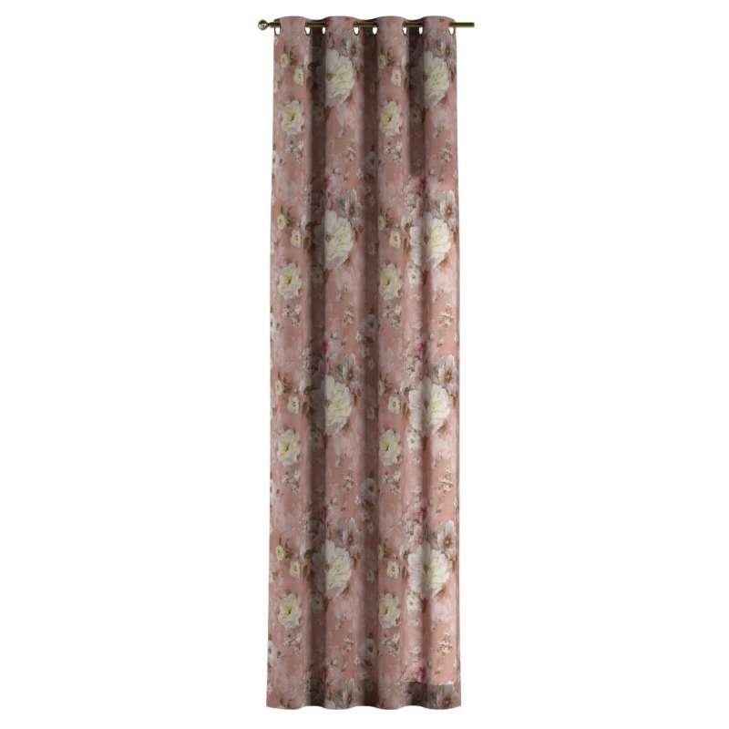 Gardin med öljetter 1 längd i kollektionen Monet, Tyg: 137-83