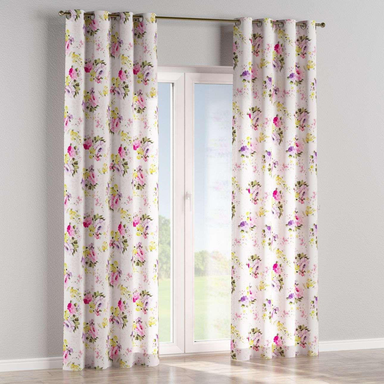 Eyelet curtains 130 x 260 cm (51 x 102 inch) in collection Monet, fabric: 140-00