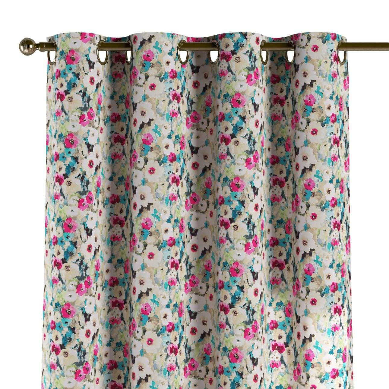 Eyelet curtains 130 x 260 cm (51 x 102 inch) in collection Monet, fabric: 140-10
