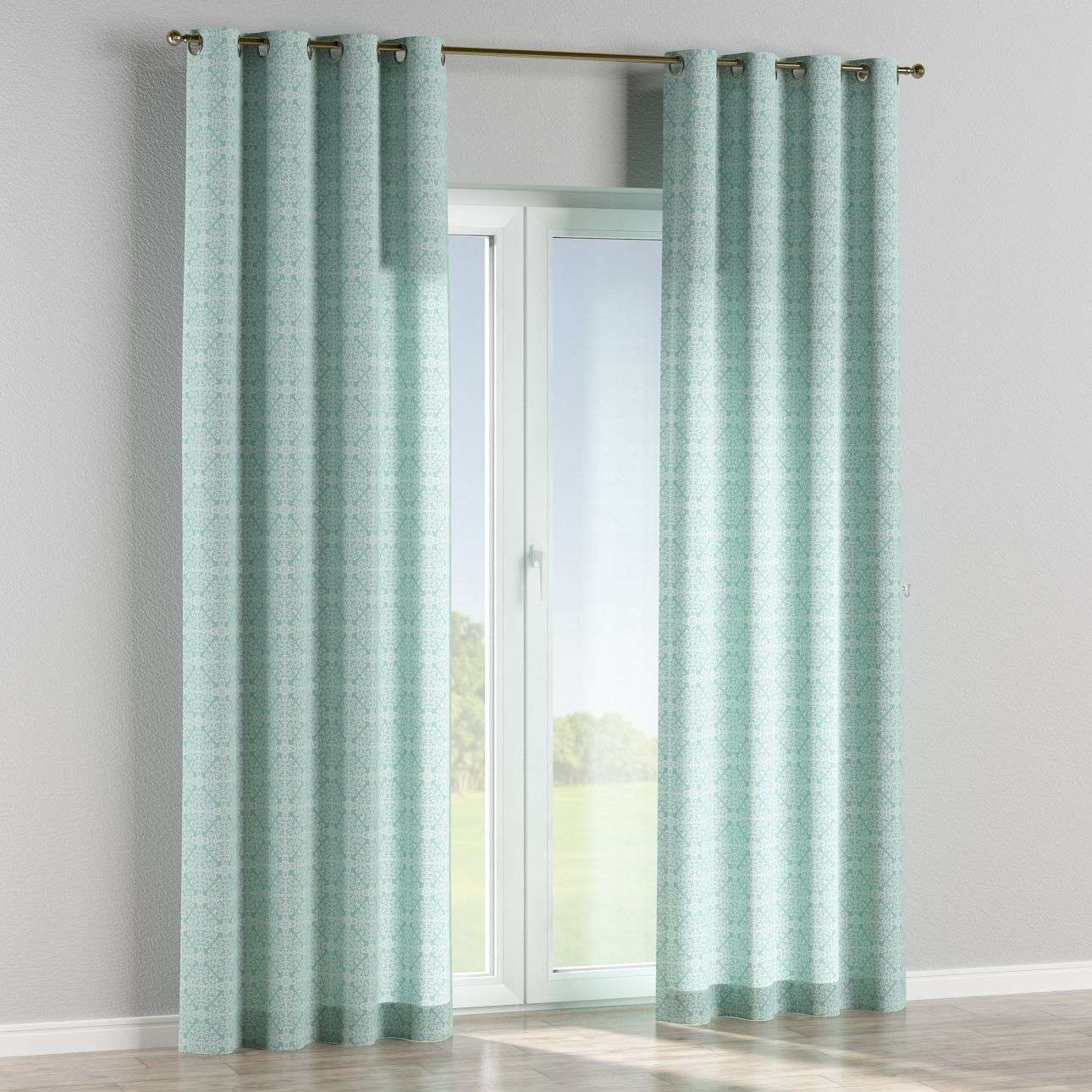 Eyelet curtains in collection Flowers, fabric: 140-37