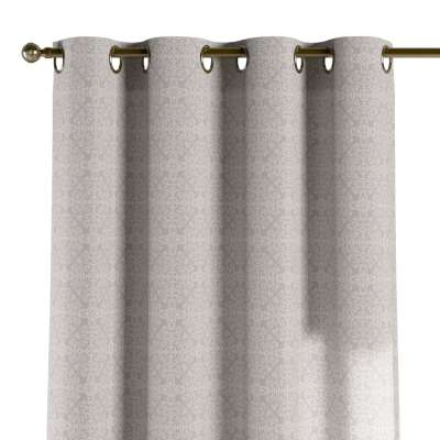 Eyelet curtain 140-38 oriental pattern on grey background Collection Flowers