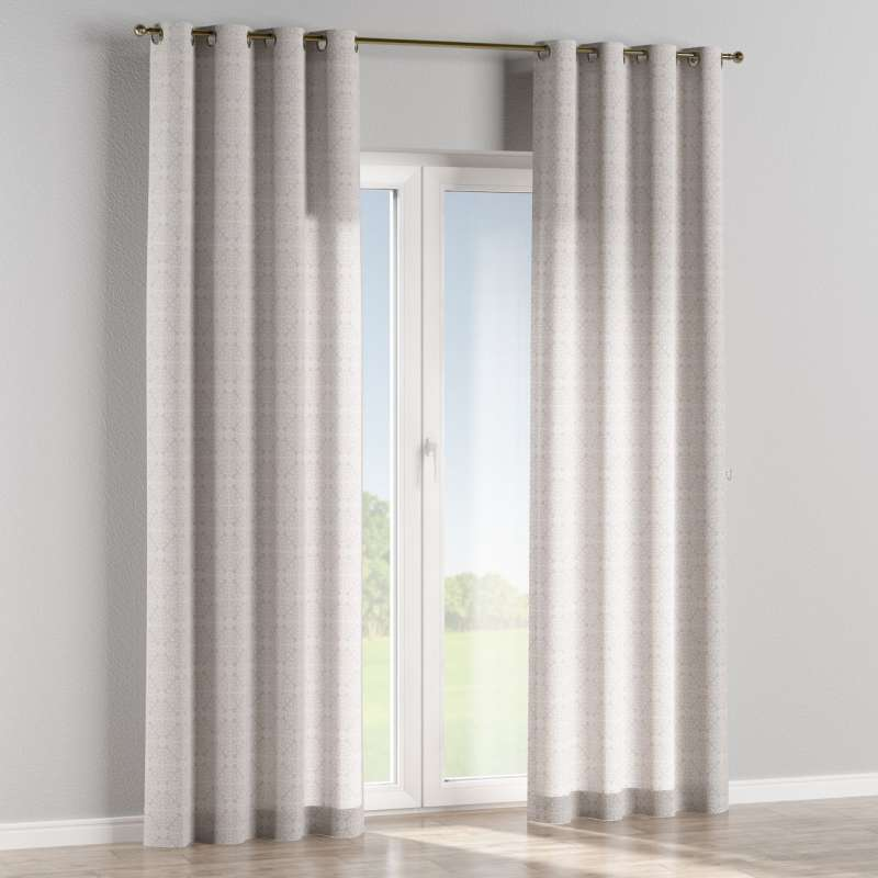 Eyelet curtain in collection Flowers, fabric: 140-38