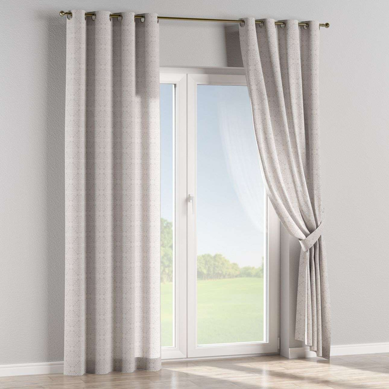 Eyelet curtains in collection Flowers, fabric: 140-38