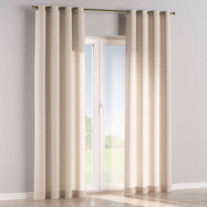 Eyelet curtain in collection Flowers, fabric: 140-39